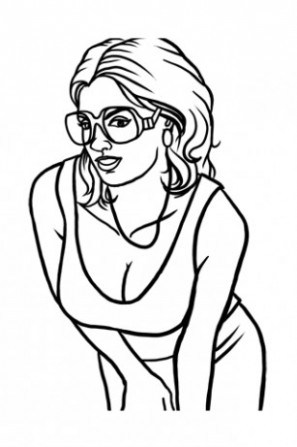 297x447 How To Draw Gta 5 Characters Sketch Coloring Page
