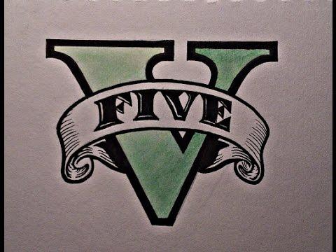 480x360 Drawing The Gta V Logo