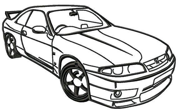 570x356 Nissan Gtr Drawing Nissan Gtr R35 Drawing