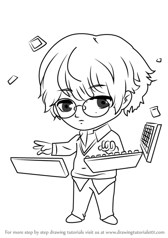 567x800 Learn How To Draw Keyboard Guest From Mystic Messenger (Mystic