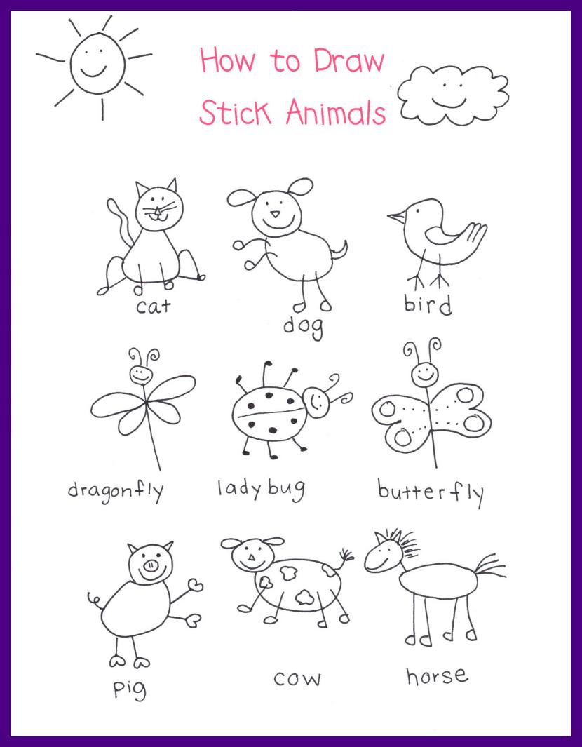 830x1065 12 Ideas Of Butterfly Drawing Kindergarten
