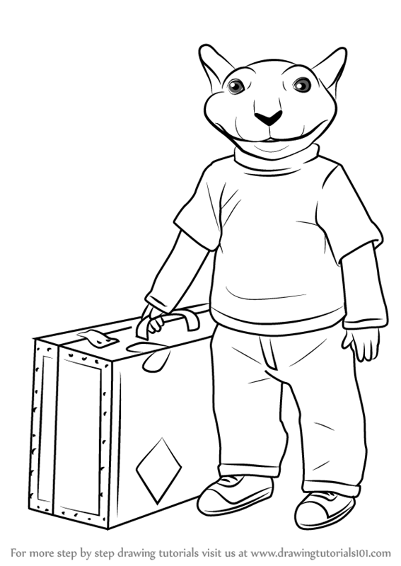 567x800 Learn How To Draw Stuart Little (Stuart Little) Step By Step
