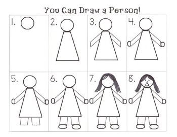 350x270 Stunning How To Draw A Person Step By Motor Skills Drawings