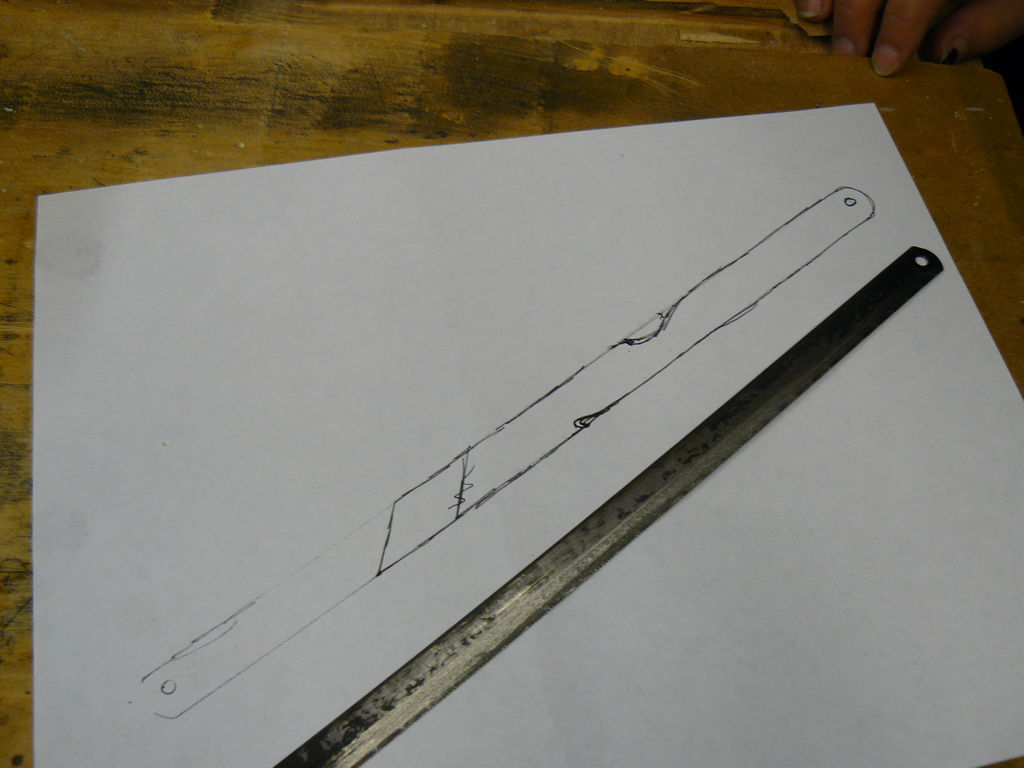 1024x768 Make A Knife Out Of An Old Hacksaw Blade 7 Steps (With Pictures)