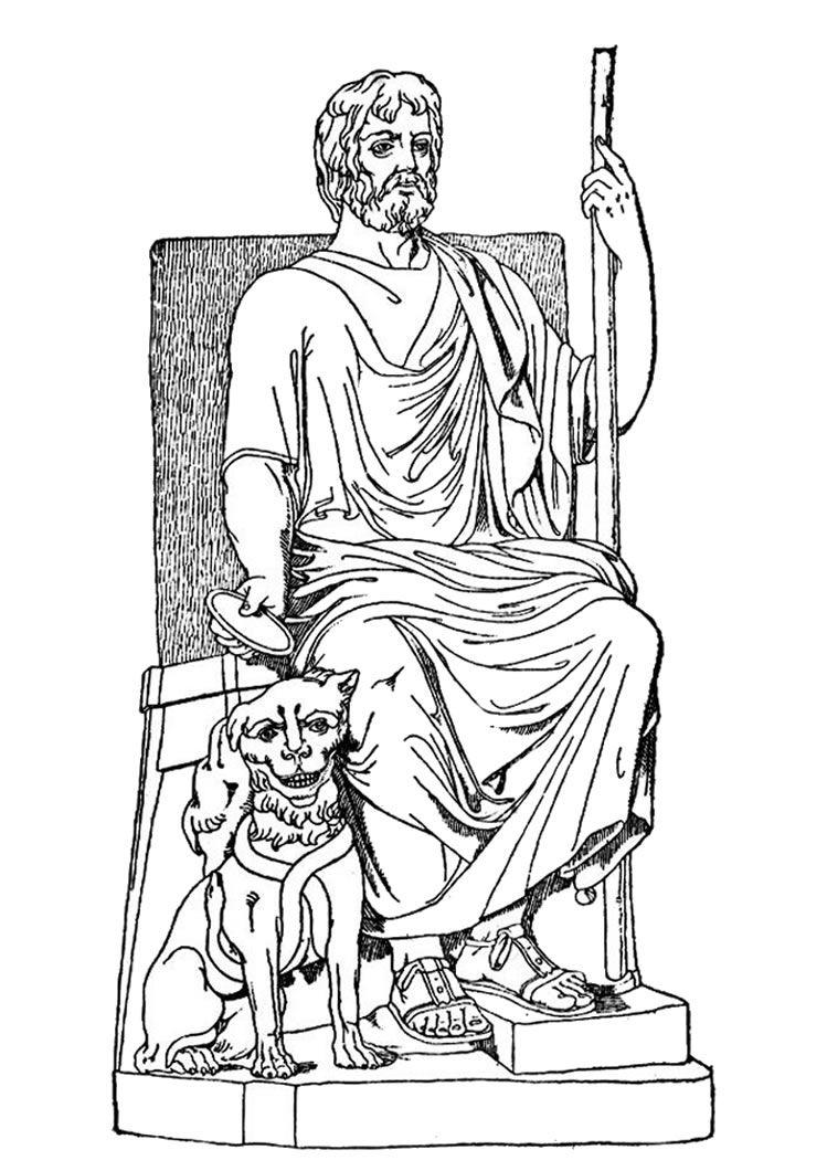 Hades Greek God Drawing at GetDrawings | Free download