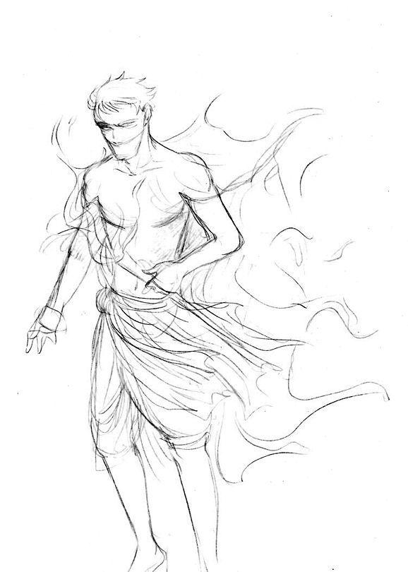 578x810 Greek Mythology Thanatos Art By Arbetta Greek Mythology