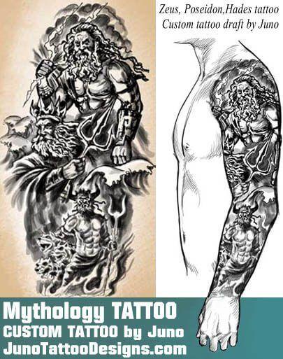 405x513 Greek Mythology Tattoo, Zeus Tattoo, Hades Tattoo, Poseidon Tattoo