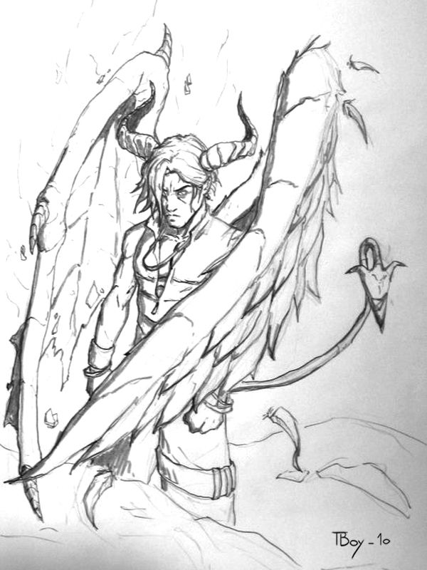 600x800 Angel Half Demon By Tboy85 Fantasy Scetches By Annaele