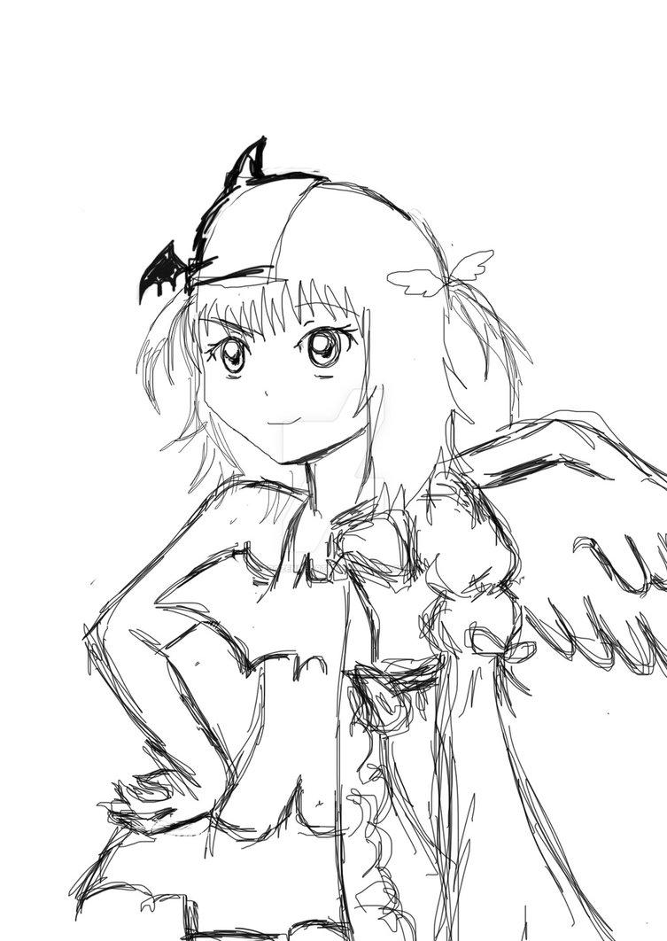753x1062 Hinamori Amu Half Devil, Half Angel By Frozenheart8