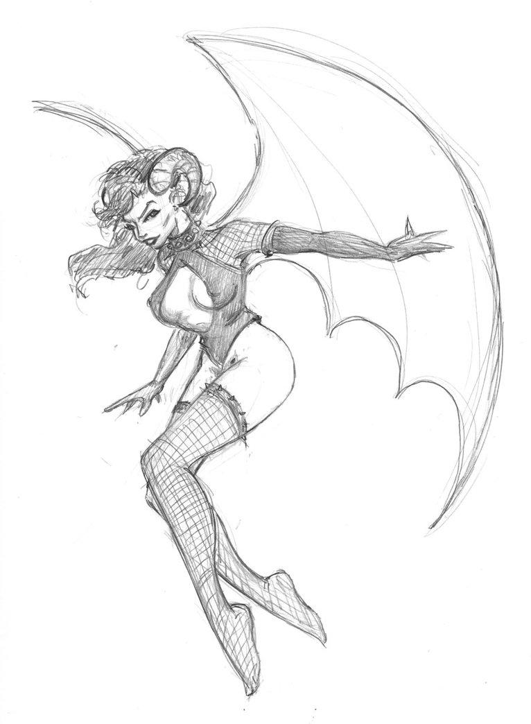 766x1044 Photos Girl Demon Drawing,