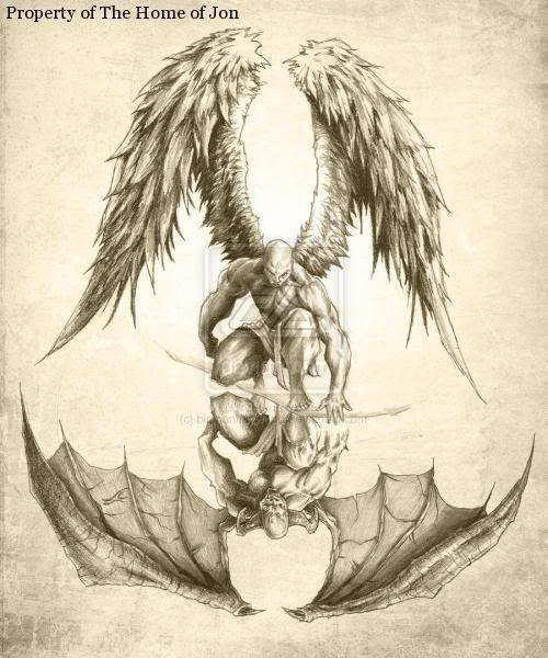 500x600 28 Best Half Angel Half Demon Tattoo Images On Satanic