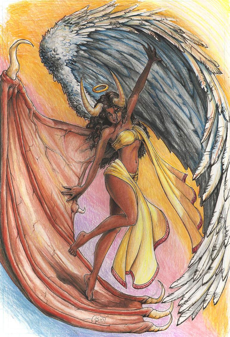 774x1134 Half Angel, Half Demon On Behance