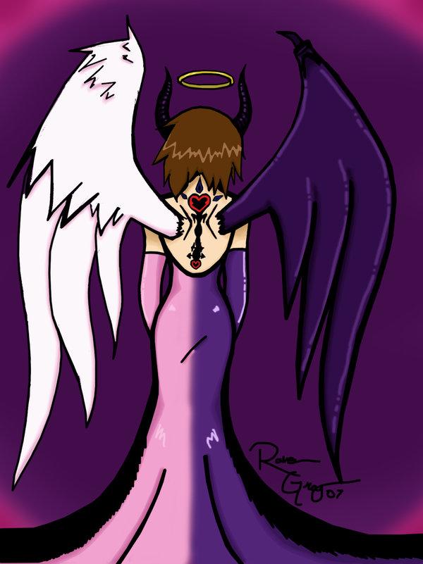 600x801 Half Devil Half Angel By Mabinerinee