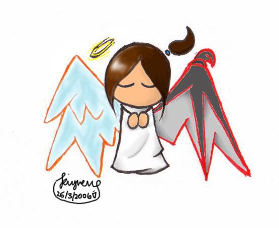 555x453 Half Angel, Half Devil By Kiyneug