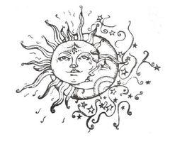 240x200 Half Moon Face Half Moon Drawing Half Moon Half Sun Face 1930s