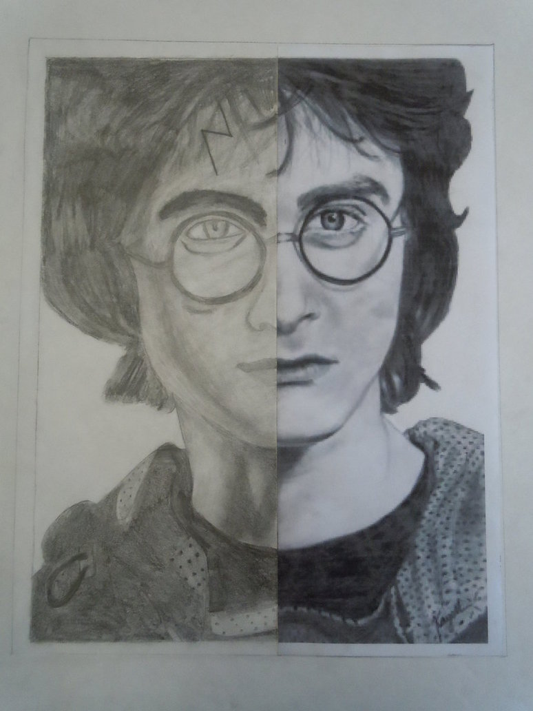 774x1032 Harry Potter Half Drawing By Xgirlwholovesmagicx