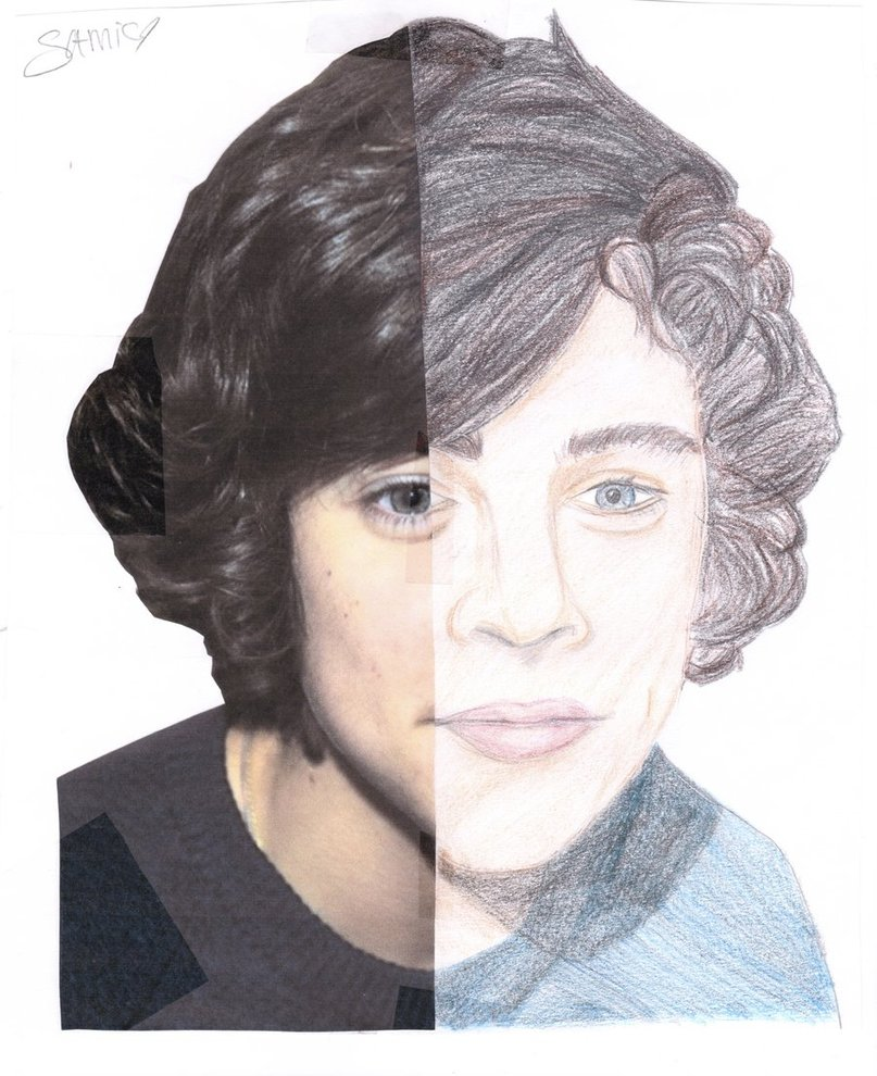 807x990 A Half Drawing Of Harry Styles By Samiarnett