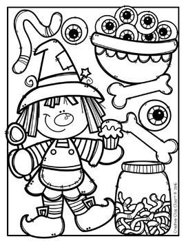270x350 Halloween Coloring Pages {Made By Creative Clips Clipart