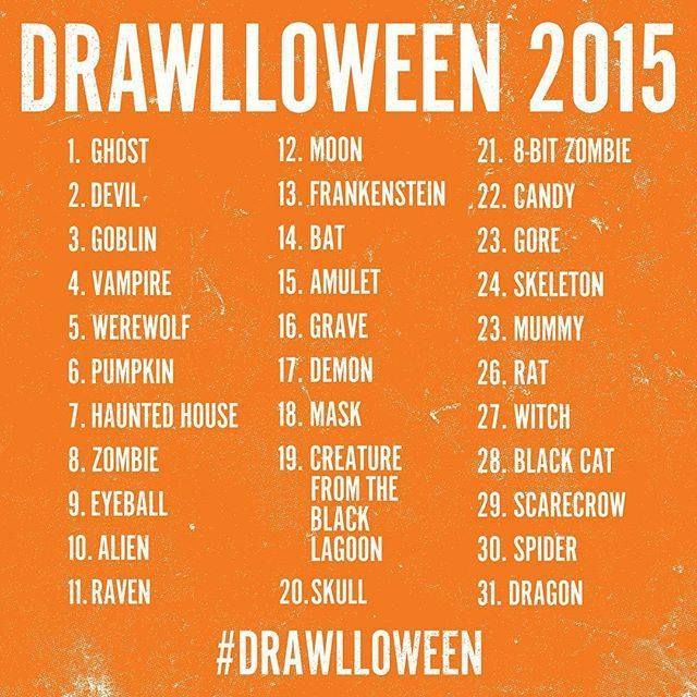 640x640 October Halloween Drawing Challenge 2015 (Because I Need To Start