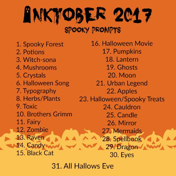 575x576 Spooky Inktober Prompts!