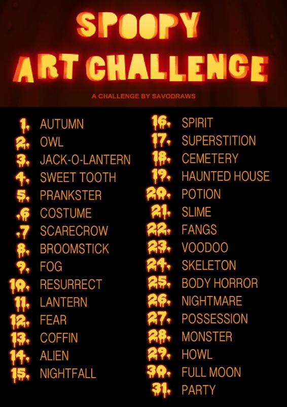 566x803 Spoopy Art Challenge 2k15 By Savodacious