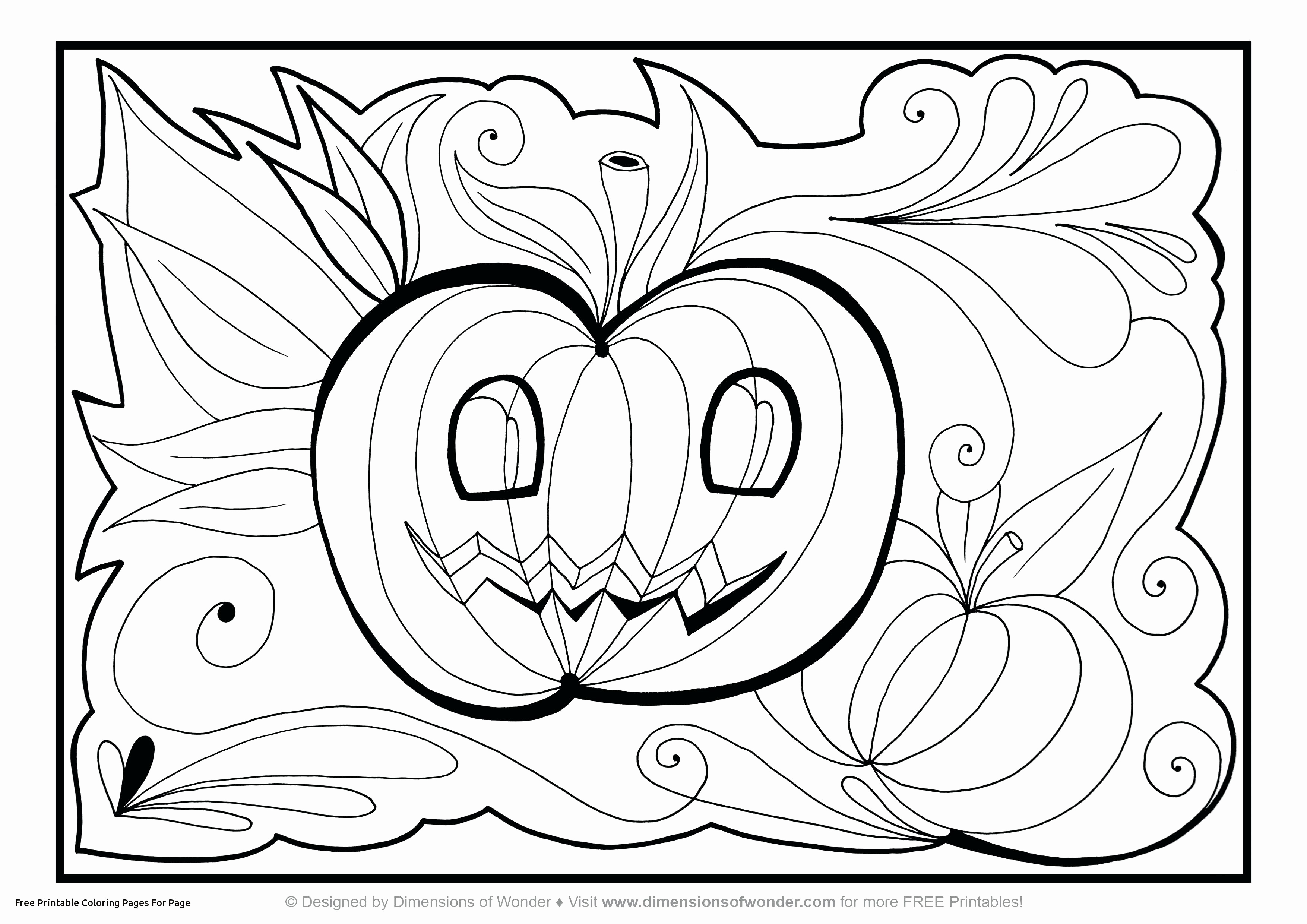 3508x2480 Free Halloween Coloring Pages To Print Inspirational Coloring