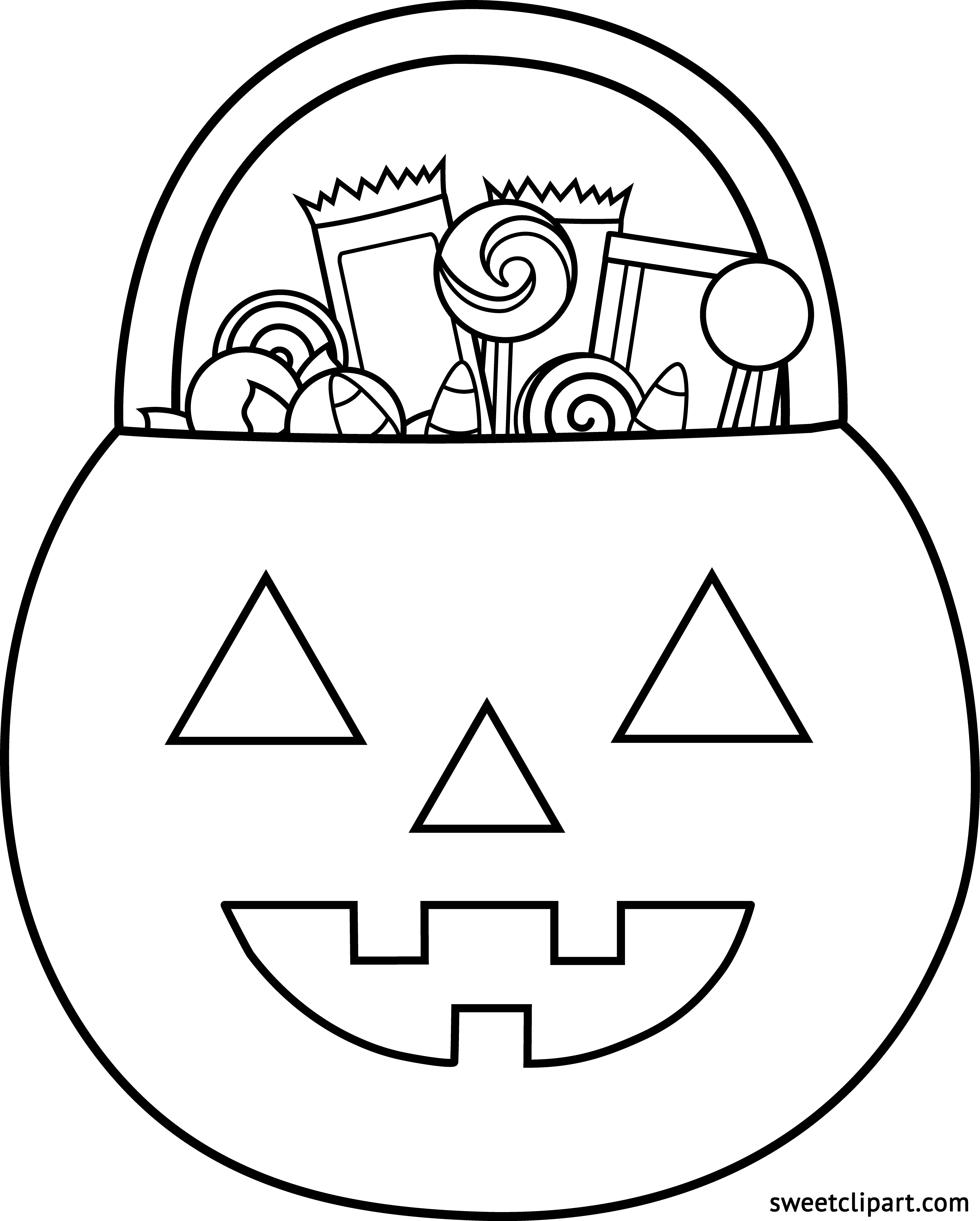 4055x5051 Halloween Pumpkin Candy Coloring Page