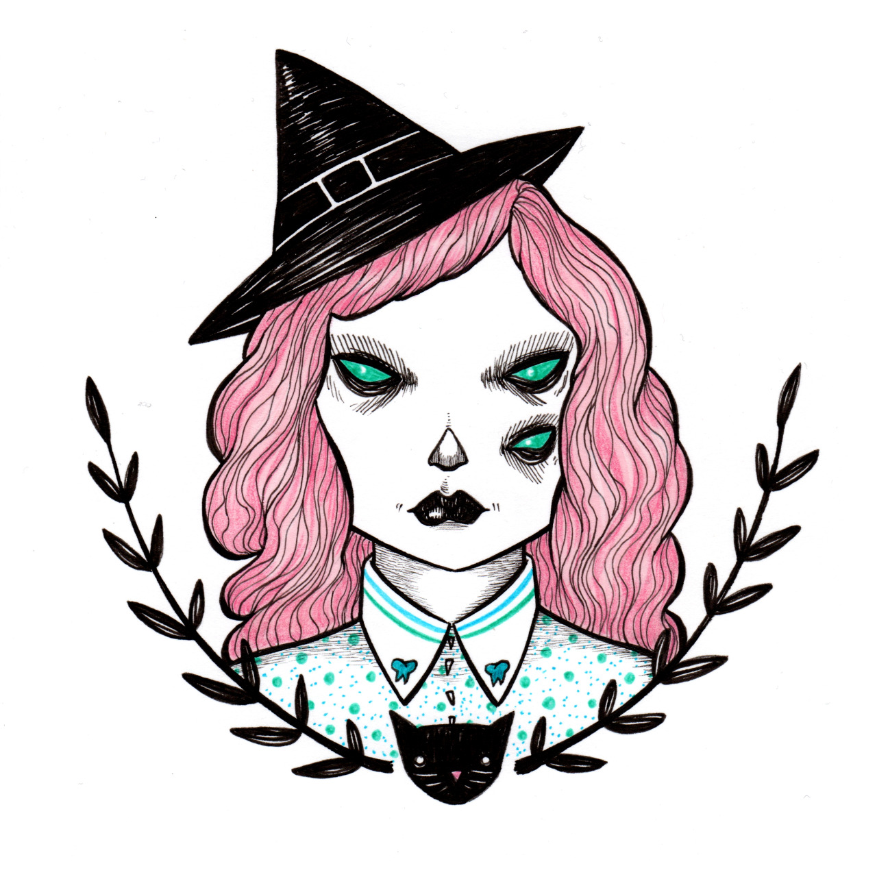 1280x1283 Art Halloween Drawings Artists On Tumblr Funnyskullgrin