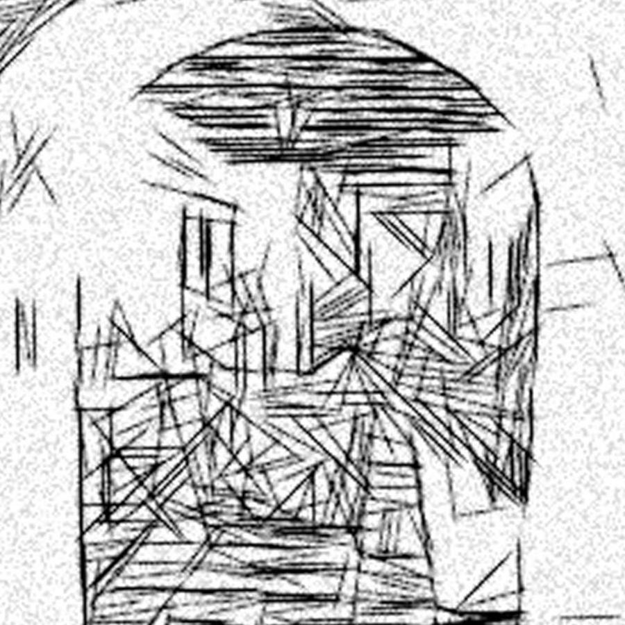 900x900 Hallway Of Dali Drawing By Jonathan Harnisch