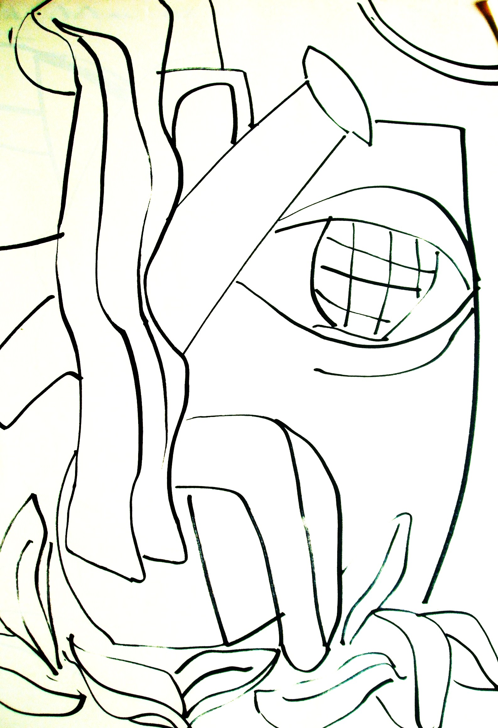 1586x2317 Line Drawings With A Fat Marker Pen 2010 Headland