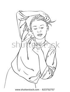 236x308 Sketch Of Teenage Girl With Two Buns Hairstyle Covered Her Face