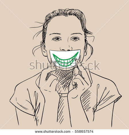 450x470 Collection Of Girl Covering Her Mouth Drawing High Quality