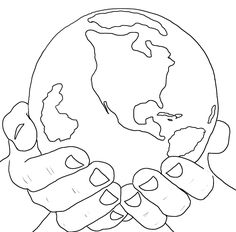 236x232 Sketches Of Hands Holding Earth Coloring Pages Tattoos By