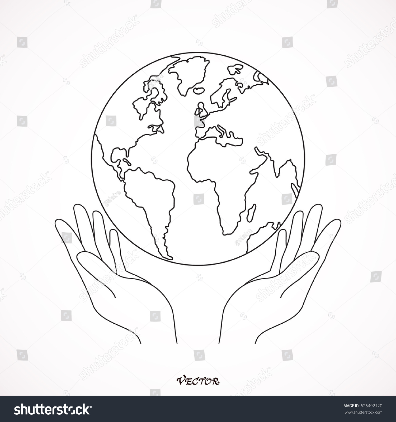 1500x1600 Collection Of Holding Earth In Hands Drawing High Quality