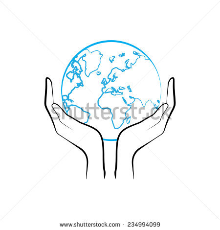 450x470 Collection Of Drawing Of A Hand Holding The Earth High