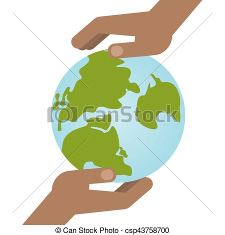 450x470 Black Hands Holding Planet. Two Hands Hold A Blue Planet Earth