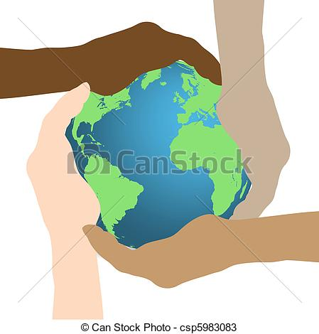 449x470 Concept Image Of Hands Holding The Earth Isolated On A White