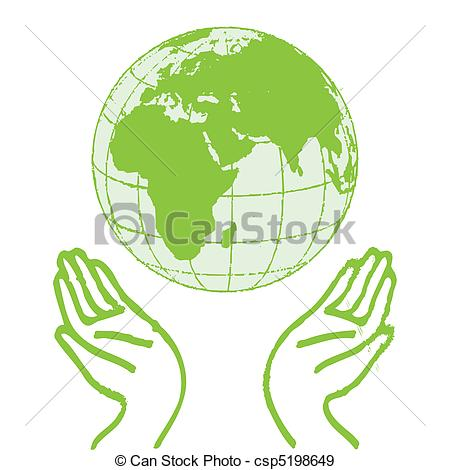 450x470 Hands Holding The Green Earth.