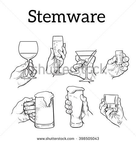 450x470 Drawn Glass Hand Holding