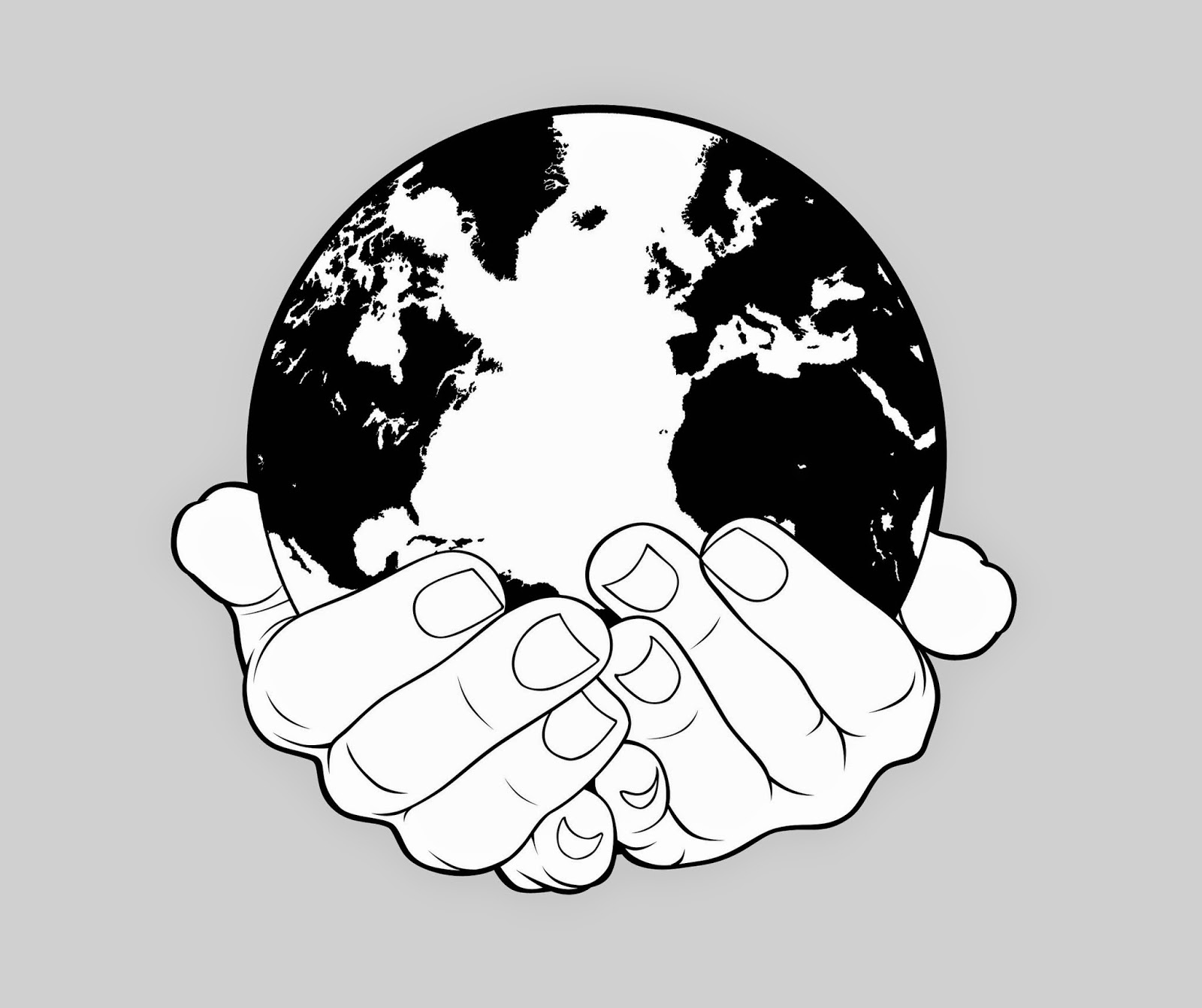1600x1342 Earth In Hands Drawing