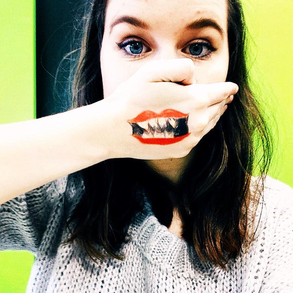 600x600 Phoebe King On Twitter Had The Joker Mouth Painted On My Hand