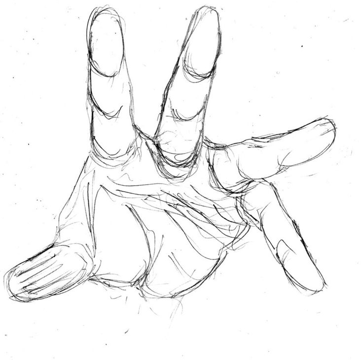 Hand Reaching Out Of Water Drawing