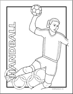 304x392 Coloring Page Summer Olympics