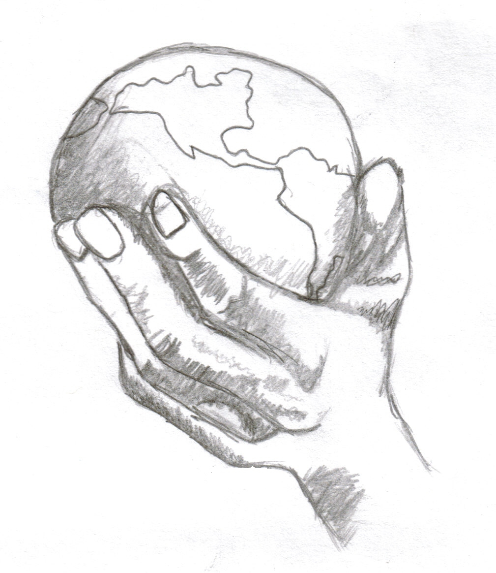1009x1164 How To Draw Hands Holding Earth World In The Palm Of My