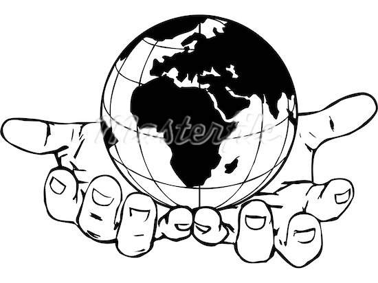 550x412 Collection Of Hands Holding The World Drawing High Quality