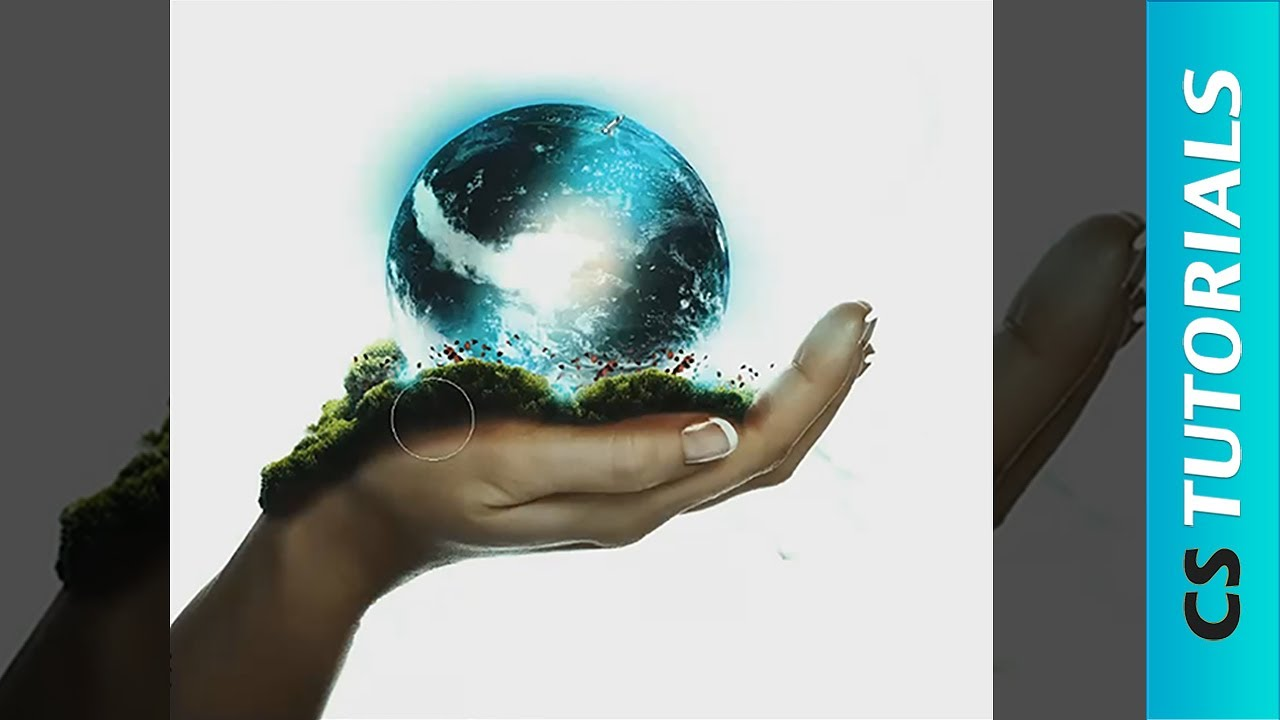 1280x720 Hand Holding The Earth