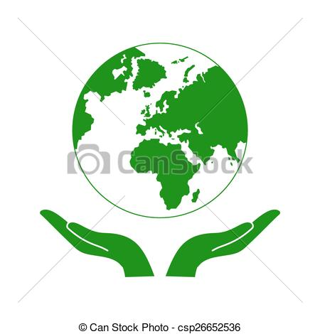 450x470 Hands Holding The Green Earth Globe Vector Illustration