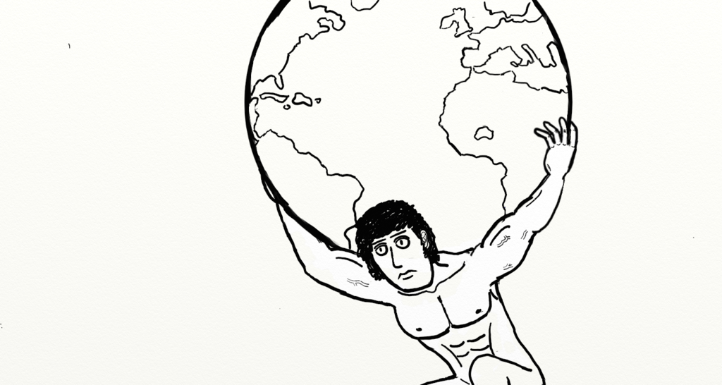 1024x546 Atlas Holding Up The World By King Of The Lemmings