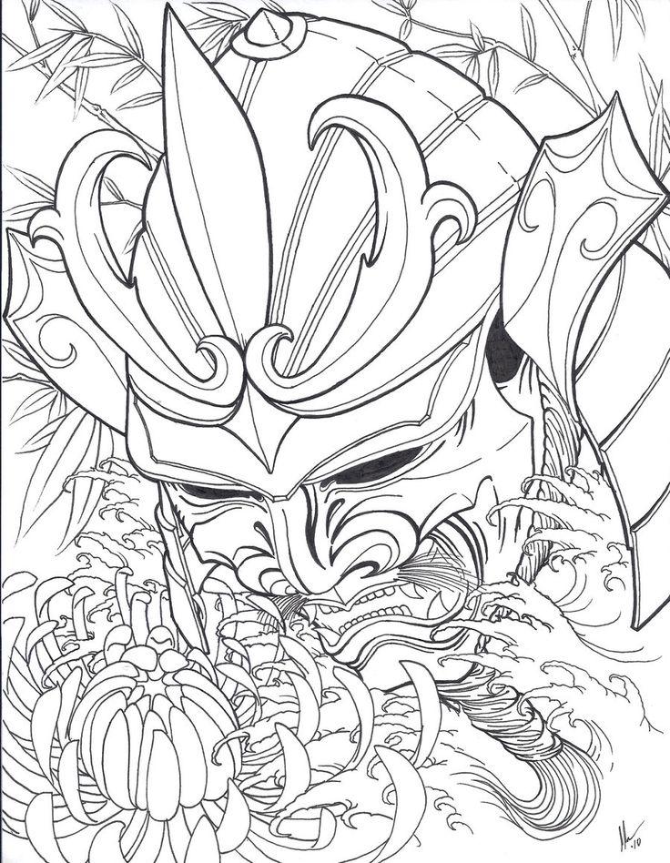 Hannya Mask Drawing At Getdrawings