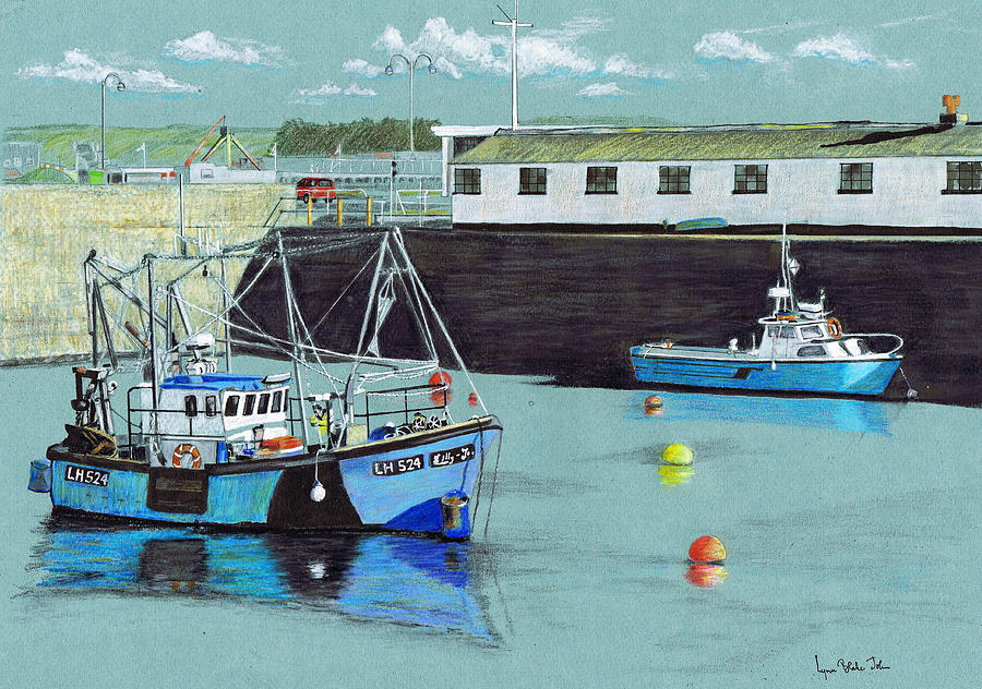 900x632 Porthcawl Harbour Drawing By Lynn Blake John